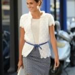 """gehaakt dames vest van """"Annecy"""" Bergere de France"""