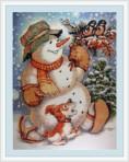 Vriendelijke sneeuwman